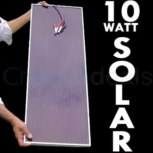 Solar Panel 12V Battery Charger 10 WATT Cars/Boats