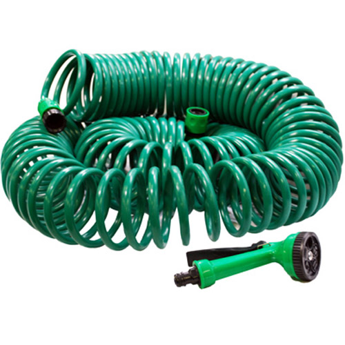 30M 100ft Auto Retract Coil Garden Hose With Connectors & Nozzle