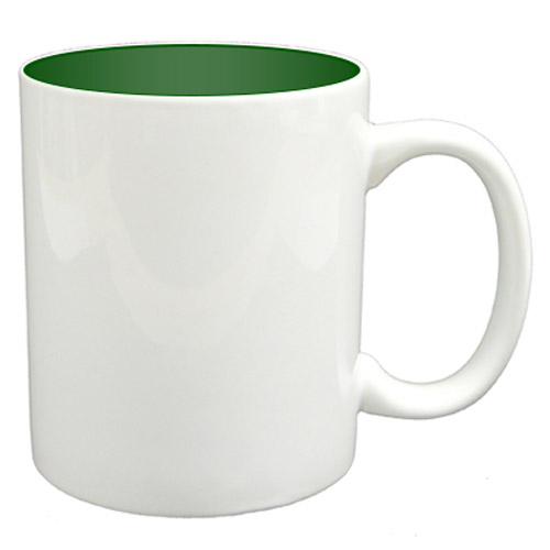 36 11oz Mugs - Green Colour Sublimation Printing + Inner Boxes