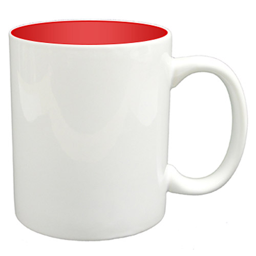 36 11oz Mugs - Red Colour Sublimation Printing + Inner Boxes