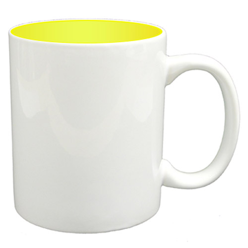 36 11oz Mugs - Yellow Colour Sublimation Printing + Inner Boxes