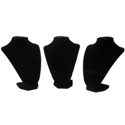 Black Luxury Jewellery Busts - 3 Pack