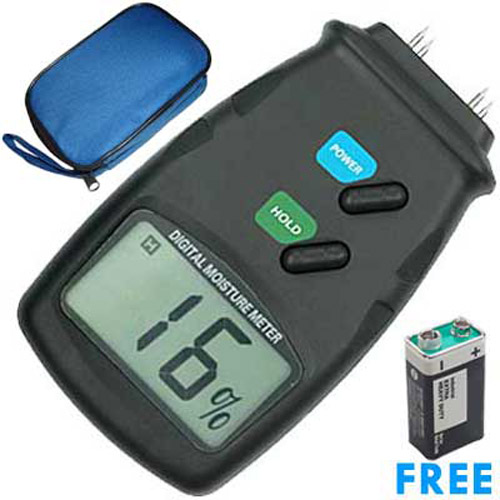 Digital Moisture Damp Meter - Ideal for Wood / Timber / Plaster