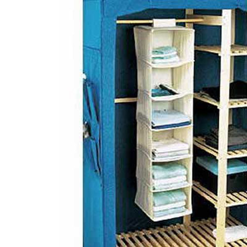 6 Shelf Hanging Wardrobe Storage Unit Organiser