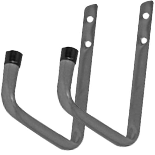 Set of 2 Heavy Duty Hardened Steel Garage Shed Storage Hooks