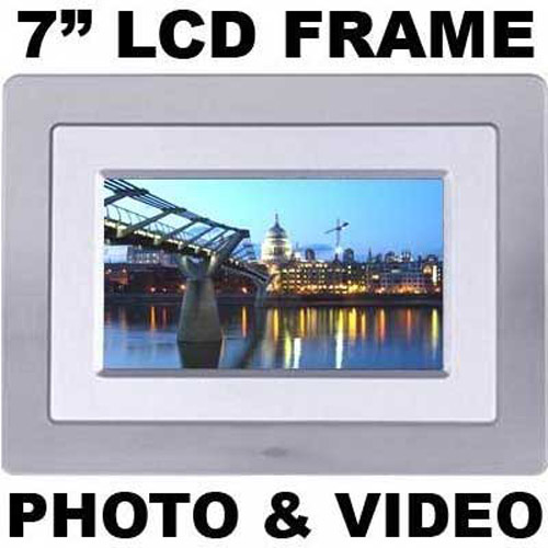 7 Inch LCD Photo Frame with Remote - Silver
