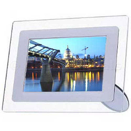 7 Inch LCD Photo Frame with Remote - Clear