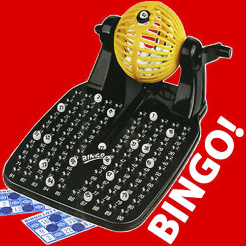 90 Ball Traditional Lotto Bingo Family Fun Game Set