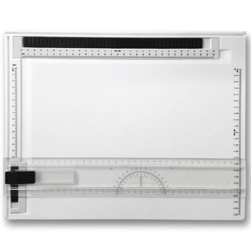 Deluxe A4 Drawing Board with Sliding Rule and Protractor