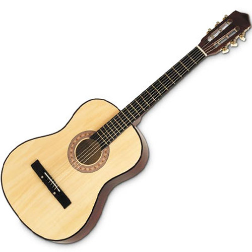 38Inch 19 Fret 6 String Wooden Acoustic Guitar With Plectrum