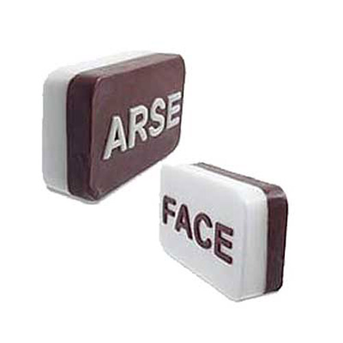 Arse/Face Soap - Novelty Lightly Scented Joke Soap