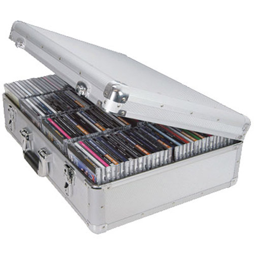 Aluminium DJ CD Flight Storage Case - Holds 120 CDs