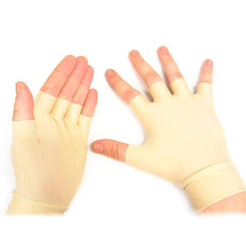 Spandex/Nylon Arthritis Washable Pain Relief Fingerless Gloves