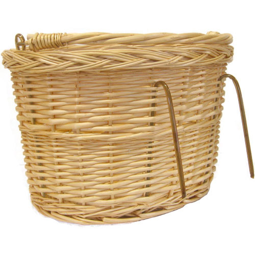 Wicker Bike Shopping Basket With Handle