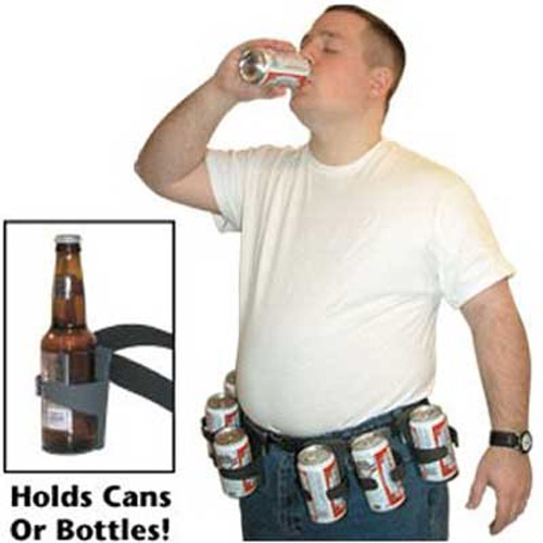 The Beer Belt Bottle and Can Holder