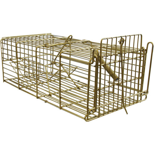 Galvanised Steel Humane Live Rats Rodent Rat Cage Trap