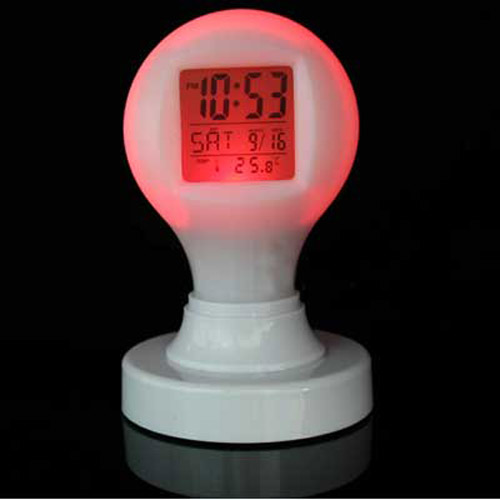 Colour Change Digital Alarm Clock and Calendar with Temperature