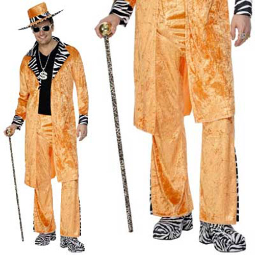 Leopard Print Pimp Daddy Cane Stick - Fancy Dress