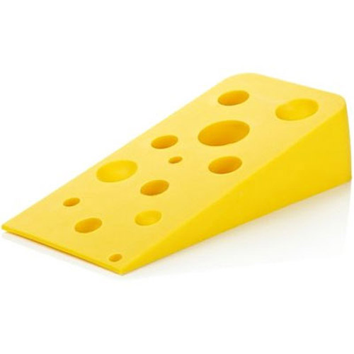 Novelty Swiss Cheese Wedge Door Stop
