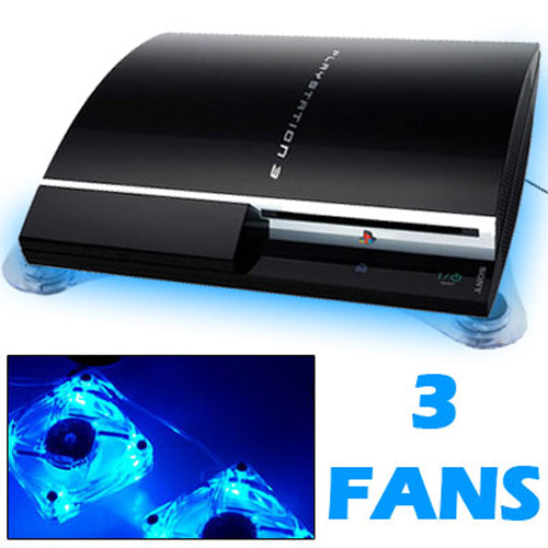 USB Horizontal Cooling Stand with 3 Fans for Sony PS3