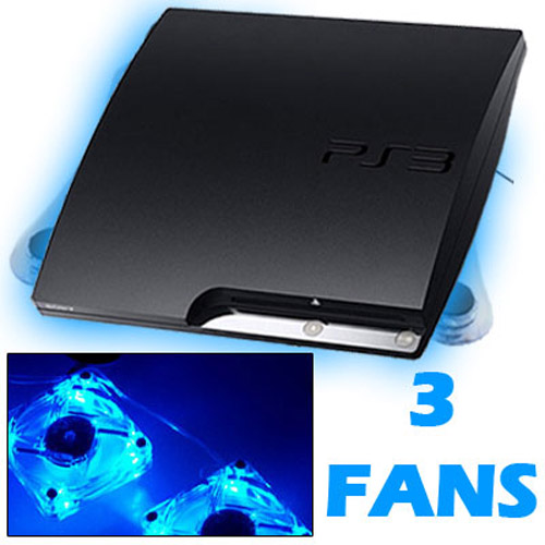 USB Horizontal Cooling Stand with 3 Fans for Sony PS3 SLIM