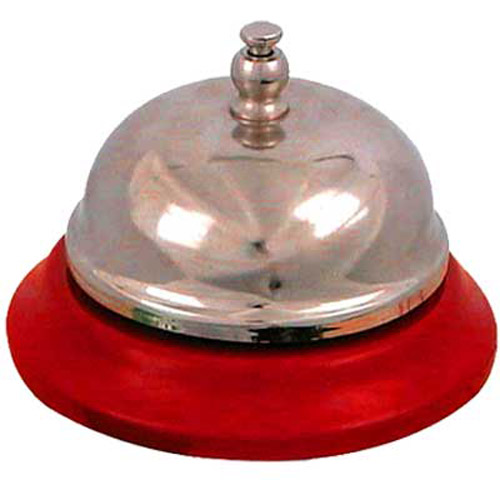 Traditional All Metal Reception Desktop Bell - 8CM
