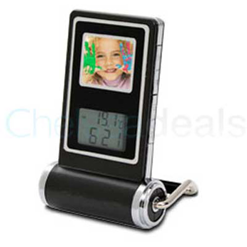 Digital Photo Frame with Alarm Clock and Calendar
