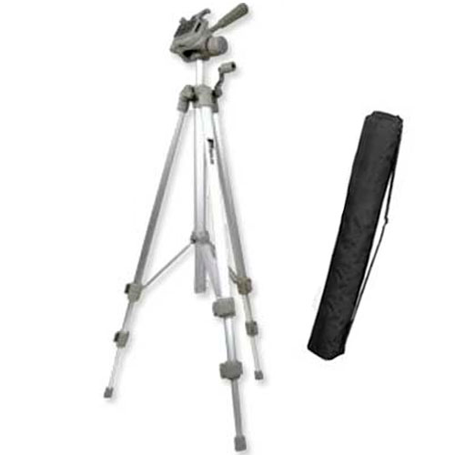 Silver Finish Full Size Tripod with Case
