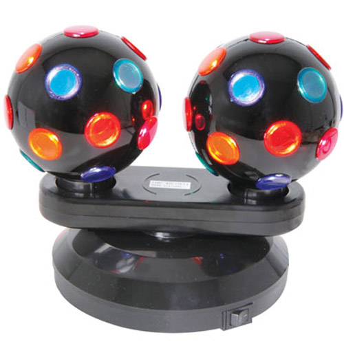 Large Double Rotating Twin Disco Ball Party Lights