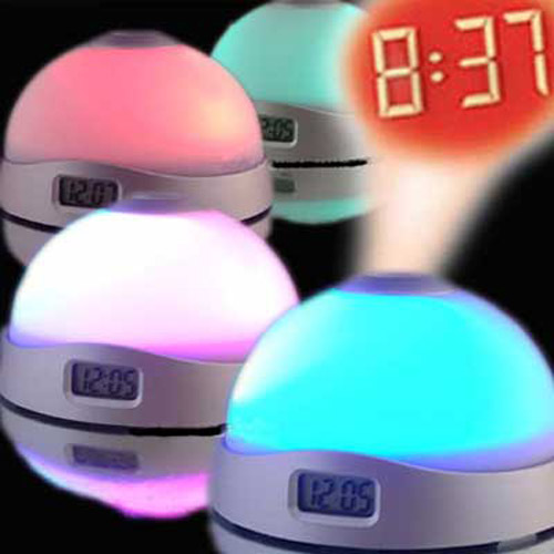 Colour Changing Dome UFO Projection Clock with Alarm and Torch