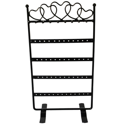 48 Holes - 8 Hooks Metal Earrings Jewelry Display Hanging Stand