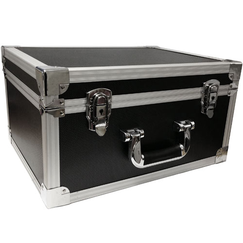 Professional DJ Black Flight Case Record Box for 7inch Singles