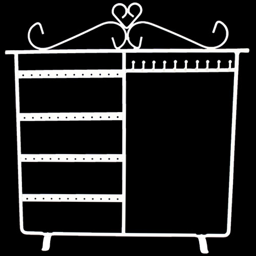 48 Holes - 10 Hooks Metal Earrings Jewelry Display Hanging Stand