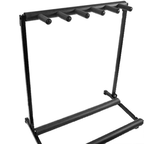 5 Way Folding Multi Guitar Rack Stand Electric Acoustic Bass