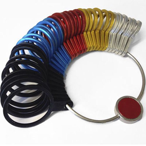 Metal British Finger Ring Gauge Sizer - A-Z+6 (32 Rings!)
