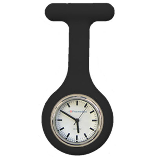 Black Silicone Nurses Fob Watch