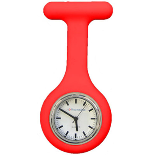 Red Silicone Nurses Fob Watch