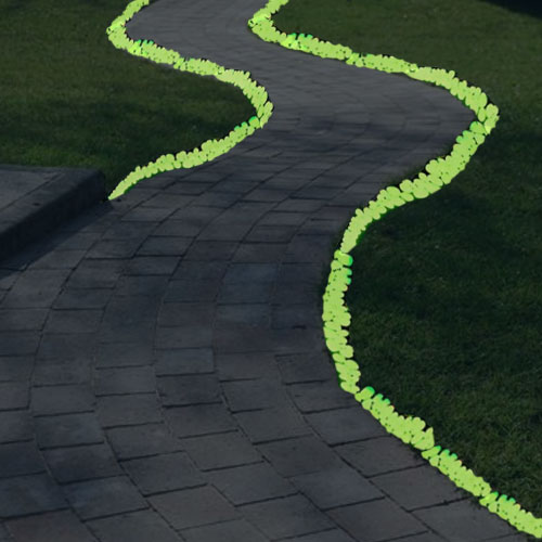 120 Glow In The Dark Pebbles Stones Luminous Illuminous Garden