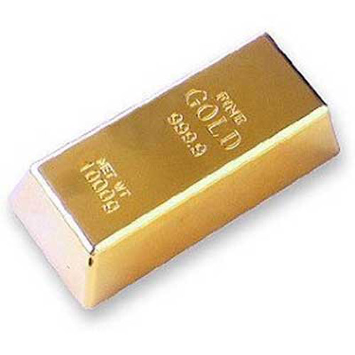 Gold Bullion Door Stop - Heavy 1KG Bar!