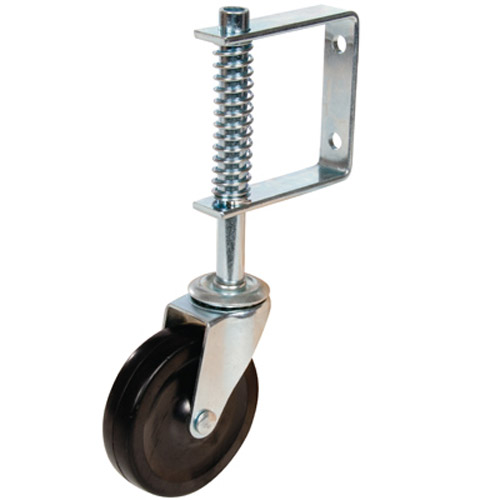 100mm Silverline Gate Castor Swivel Spring-Loaded Wheel - 57Kg