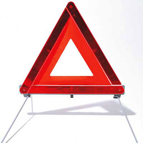 Emergency Roadside Hazard Breakdown Warning Triangle