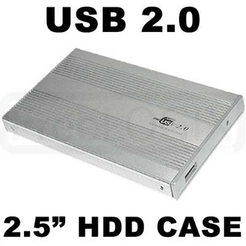 "USB 2.0 High Speed 2.5"" External HDD Case - Silver"