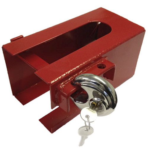 Universal Caravan Trailer Hitch Security Lock + Free Padlock!