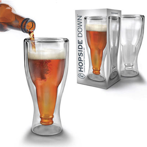 Hopside Down Beer Half Pint Glass