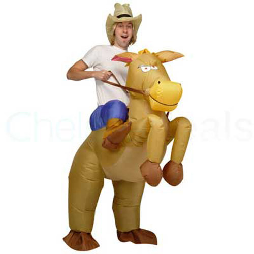 Inflatable Cowboy on a Horse Costume