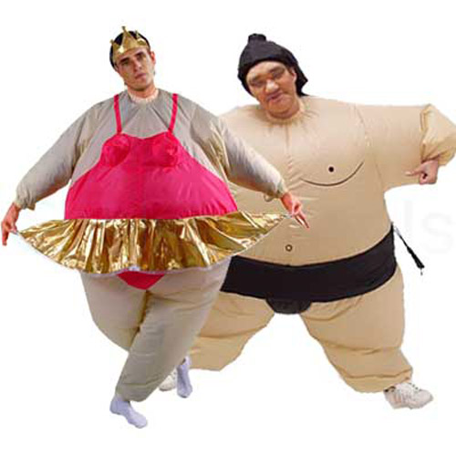 Inflatable Sumo Wrestler Costume and Ballerina Costume
