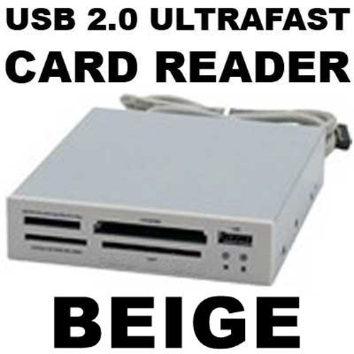"ALL-IN-ONE Internal 3.5"" Memory Card Reader, USB 2.0 & Case BGE"