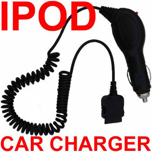 In Car Charger for all iPod's - Black