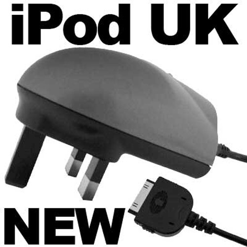 iPod UK Charger - Black