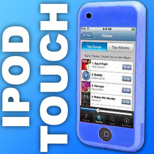 Apple iPod Touch Silicone Skin Case - Blue